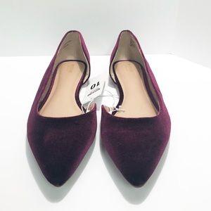 NWT MOSSIMO Women's 10 Purple Velour Dressy Flats